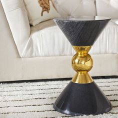 Jonathan Adler Canaan Accent Table Jonathan Adler, Drum Side Table, Furniture Cleaner, Slipper Chairs, Glam Room, Country Style Homes, Mid Century Style, Living Room Modern, End Tables