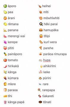 He kupu Māori mo enei kai.