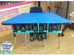 Different ways to implement a leader of the week in your classroom