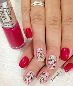 Resultado de imagem para decoração de unhas vermelhas