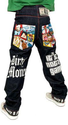 Para Hombre Negro Bondage holgados Skater Cadena Pantalones Pantalones Goth Punk Emo Gothic Cyber