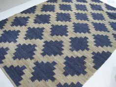 Add Colour To A Country Or Coastal Decor With A Hand Loomed 100% Jute Rug