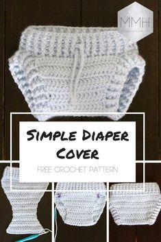 Free crochet pattern for beginner friendly simple diaper cover! Puppen 843d4aefcb2