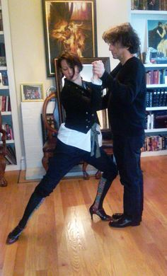 Amanda Palmer and Neil Gaiman learning to Tango Neil Gaiman Quotes, Dresden Dolls, Known Unknowns, Amanda Palmer, Family Album, Celebs, Celebrities, Happy Anniversary, Funny Faces