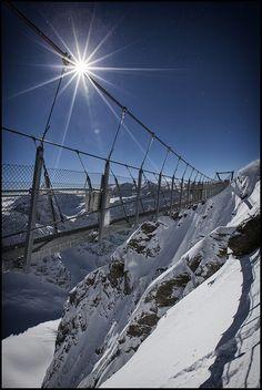 Titlis Cliff Walk in Mount Titlis Switzerland