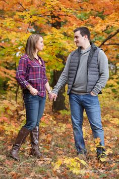 Fall Engagement Photography Shanty Creek Resort Bellaire Torch Lake | Erin + Steve photo by Paul Retherford #FallEngagement #Engagement #NorthernMichigan