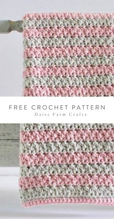 Free Pattern easy to read with tutorial Crochet Afghans, Crochet Stitches For Blankets, Easy Crochet Blanket, Crochet Stitches Patterns, Crochet Baby, Free Crochet, Stitch Patterns, Knitting Patterns, Kids Crochet