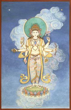 8 Armed Avalokitesvara God of Compassion by LauraSantiSacredArt, $30.00