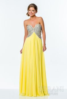 Terani Couture Beaded Sweetheart Gown