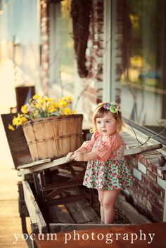How cute for vintage shoot - do it at an antique shop!