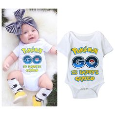 >> Click to Buy << New baby girls boys bodysuit climbing clothes printed letter short-sleeved jumpsuit infant cartoon pokemon go overall 16A12 #Affiliate