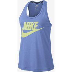 Nike Sportswear Essential Women's Logo Tank. Nike.com ($35) ❤ liked on Polyvore featuring tops, nike tank, nike tank tops, nike, logo top and nike singlet