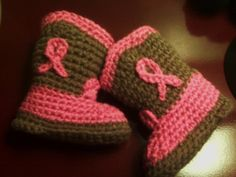 Crocheted Baby Cowgirl Booties. Adorable gift idea!