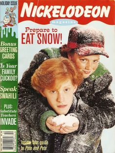 These two were the coolest siblings ever: The Adventures of Pete & Pete on Nickelodeon Magazine
