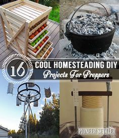 16 Cool Homesteading DIY Projects For Preppers | Self-Sufficiency | Homemade | Handmade And Off The Grid Hacks by Pioneer Settler at http://pioneersettler.com/16-cool-homesteading-diy-projects-preppers/