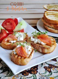 śniadanie Bruchetta, Polish Recipes, Baked Potato, Grilling, Sandwiches, Food Porn, Cooking, Ethnic Recipes, Impreza