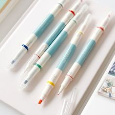 5pcs Twin Deco Pens Set / Two ways Deco Pens Set / by DubuDumo
