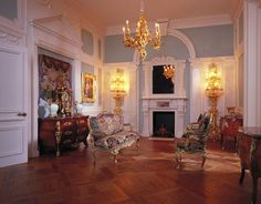 Dollhouse Miniatures : Château Margaux - Blue Salon  Share, Repin, Comment - Thanks!