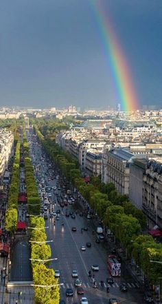 Champs Elysees after rain.. Paris, France | By Tim Trueman