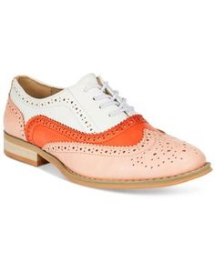 Wanted Babe Lace-Up Oxfords - Pink 5.5M