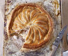 Cheesy celeriac, potato and bacon pie http://www.eatout.co.za/recipe/cheesy-celeriac-potato-and-bacon-pie/