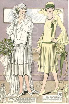 Catalogue showing 1926 wedding fashions