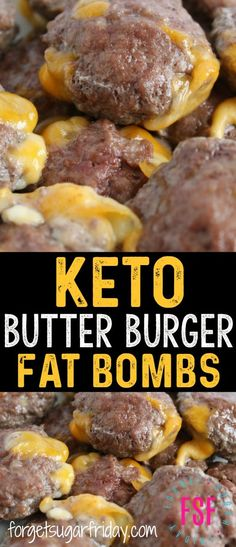 The ULTIMATE keto savory fat bombs! These Keto Butter Burgers are bursting with flavor and have ZERO carbs. Each Butter Burger fat bomb has fat, so they'll help you perfectly stick to your keto diet. Plus they're a super easy keto recipe! Keto Fat, Low Carb Keto, Lchf, Banting, Ketogenic Recipes, Low Carb Recipes, Diet Recipes, Recipes Dinner, Vegetarian Recipes