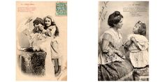 Mother and daughter * Black and White 1900s photographs by ExcusemyFrenchShop on Etsy