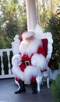 Santa... love the fur trim on his costume.