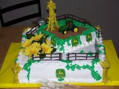 Like the 2 cakes but not how it was decorated!