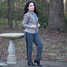 Libertad Green: Grey Wool Blazer