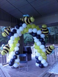 Bumble Bee Balloon Arch 843.608.1246 For Your Party Needs