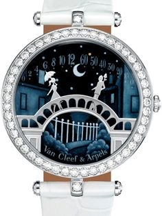 The Poetry of Time by Van Cleef & Arpels. Truly a work of art. Fall in love with this watch and i really wish to own one. :) Upon hitting 12 o'clock, the lovers meet at the centre of the bridge for a kiss! How romantic this is!
