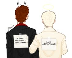 Aziraphale, being the protective boyfriend Manado, Disney Channel, Cartoon Network, Protective Boyfriend, Hollow Art, Good Omens Book, Terry Pratchett, Leap Of Faith, Angels And Demons