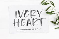 Eye-catching & modern handmade brush fonts available to purchase from our font shop. Get started with 3 free premium fonts! Watercolor Lettering, Watercolor Texture, Hand Lettering, Free Svg Fonts, Best Free Fonts, Heart Font, Font Shop, Handwritten Quotes, Brush Font