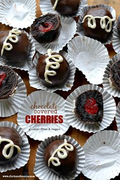 Vegan chocolate-covered cherries. With something other than cherries, this would be good. A nut perhaps?