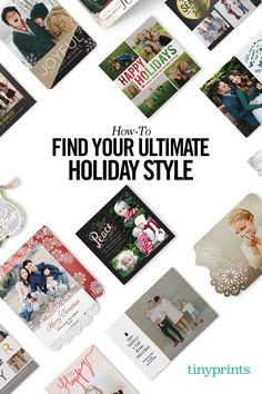 Discover your own unique holiday card style today with Tiny Prints. Whether you're in the mood for traditional, chic or cards adorned with glitter, we have holiday cards that fit every style and personality. With over 641 customizable designs, Tiny Prints will light up the eyes of your friends and family guaranteed! Find the holiday card that suits your individuality today!