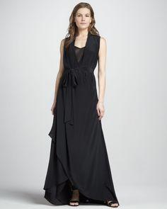 Rachel Zoe  Celine High-Low Gown