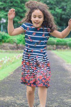 Girls Poppy Dress by YUMI, Dress, Girls Fashion, girls summer dress, Girls style, Kids Fashion, Girls FASHION Photography, The Inspiration Edit