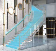 Morris Lapidus staircase at the legendary Fountainbleau hotel.