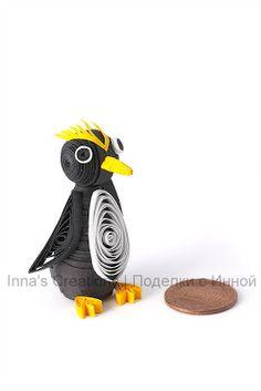 3D quilled penguin