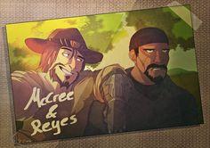 Overwatch Jesse McCree|Gabriel Reyes by spookycoin
