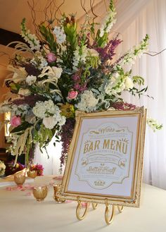 Custom Wedding Reception Bar Menu Sign 11 x 14 by SangriaStudios