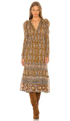 Ulla Johnson Alessandra Dress in Ochre | REVOLVE