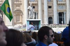 Pope Francis reciting the Angelus at St. Peter's Square, Vatican City.