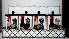 porta condimentos mdf  galinha preto e branco.  facebook.com/casaecozinha comamor