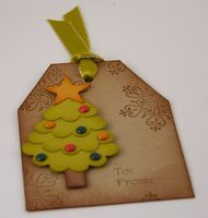 Christmas Tree Tag - Stamp with Heather
