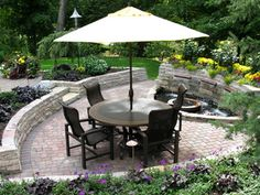 Backyard Patio with Water Feature - traditional - patio - minneapolis - by Mike Porwoll - Bachman's Landscaping