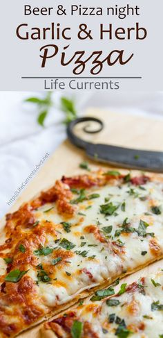 Beer and Pizza Night with a recipe for Easy Garlic and Herb Pizza and a gift guide for those hard to buy for people in your life (wow, so much coolness in one place!). #ad
