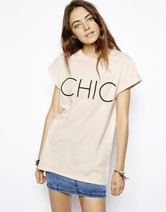 ASOS Boyfriend T-Shirt With Chic Just Got Real I've wanted one of these forever!